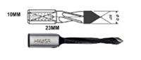 Carbide-Tipped 60 V Point for Thru Bores Length 57mm
