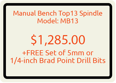 Manual Bench Top 13 Spindle Model: MB13