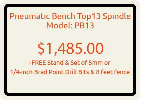 Pneumatic Bench Top 13 Spindle Model: PB13
